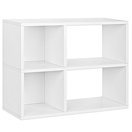 Way Basics Tool-Free Assembly 2-Shelf Chelsea Bookcase and Storage Shelf in White