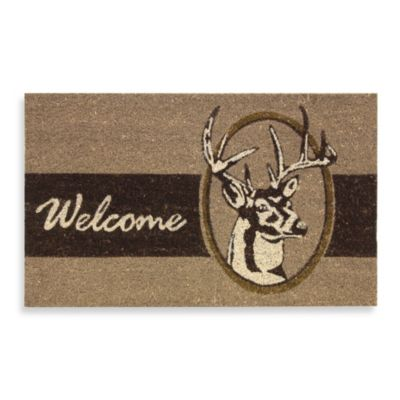 Deer Welcome Door Mat Bed Bath Amp Beyond