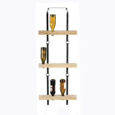 Metal And Wood Wine Rack Bed Bath Amp Beyond