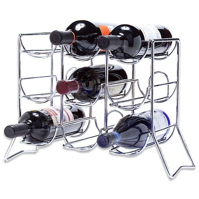 Oenophilia Scaffovino 9 Bottle Counter Wine Rack Bed