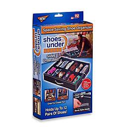 Shoes Under™ Shoe Storage Organizer in Black/Grey