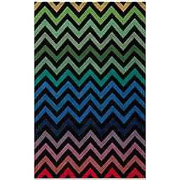 Momeni Delhi Wool Rug in Black/Chevron