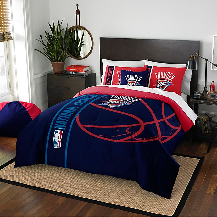 Super Nba Oklahoma City Thunder Embroidered Comforter Set Bed Download Free Architecture Designs Viewormadebymaigaardcom