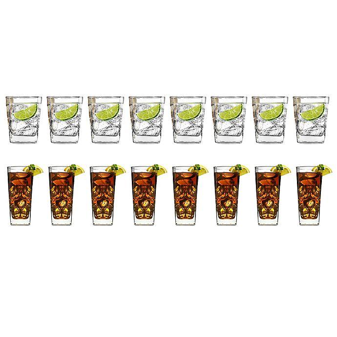 Alternate image 1 for Dailyware™ City 16-Piece Drinkware Set