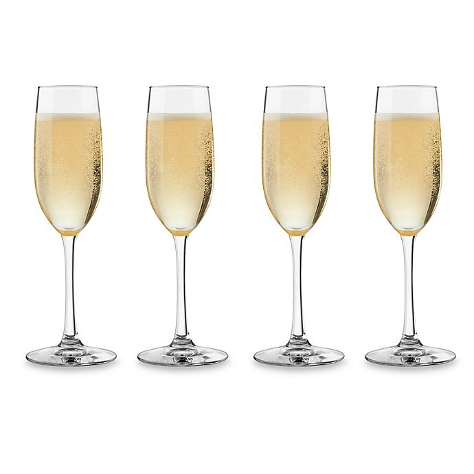 Alternate image 1 for Dailyware™ Toasting Flutes (Set of 4)