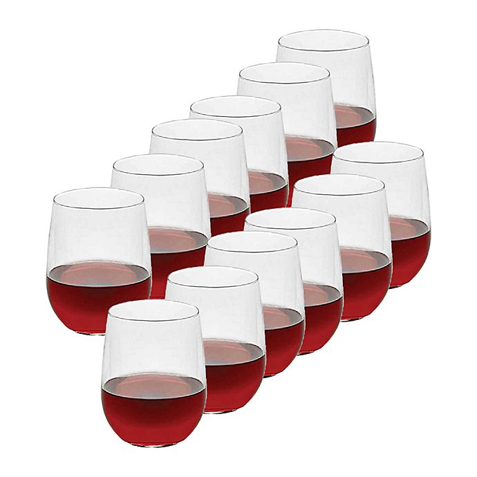 Alternate image 1 for Dailyware™ 17 oz. All Purpose Stemless Wine Glasses (Set of 12)