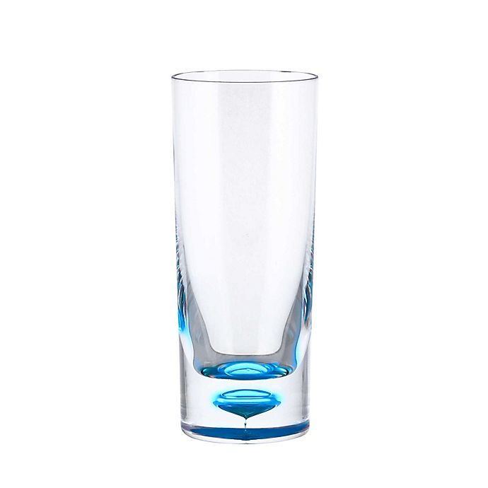 Alternate image 1 for Bubble Bottom Highball Glass in Clear/Blue