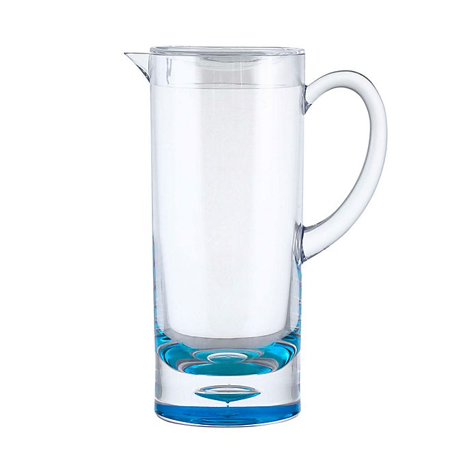 Alternate image 1 for Bubble Bottom 1.9-Quart Pitcher in Clear/Blue