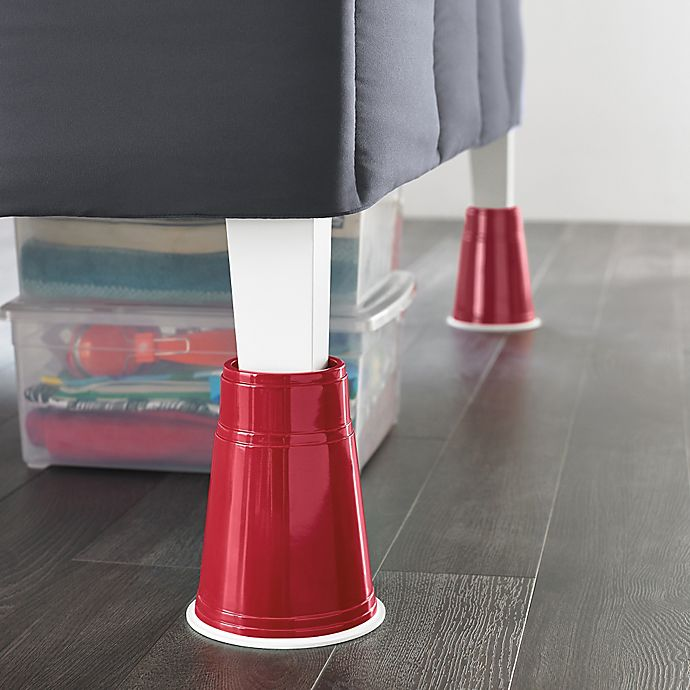 Alternate image 1 for 8-Inch Red Solo Cup Bed Risers (Set of 4)