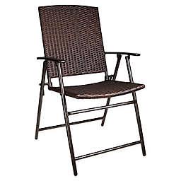 Barrington Folding Wicker Chair in Brown