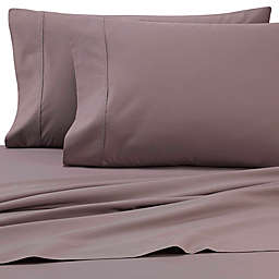 Heartland® HomeGrown™ 325-Thread-Count Cotton Percale Queen Fitted Sheet in Grey