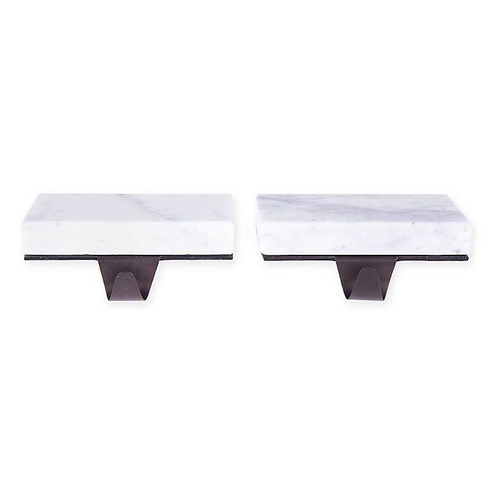 Alternate image 1 for Bee & Willow™ Home Marble Stocking Holders (Set of 2)