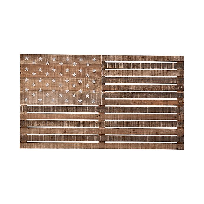 Alternate image 1 for Black Box American Flag Wood Wall Art