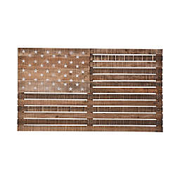 Black Box American Flag Wood Wall Art