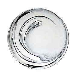 Artisanal Kitchen Supply® Coupe Marbleized Dinner Plate in Black/White