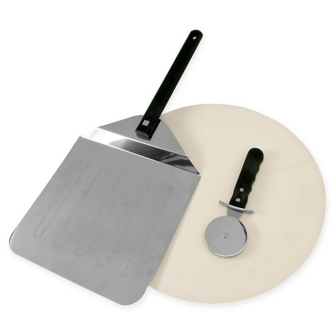 Alternate image 1 for Just Grillin' 3-Piece Grill Pizza Stone Set