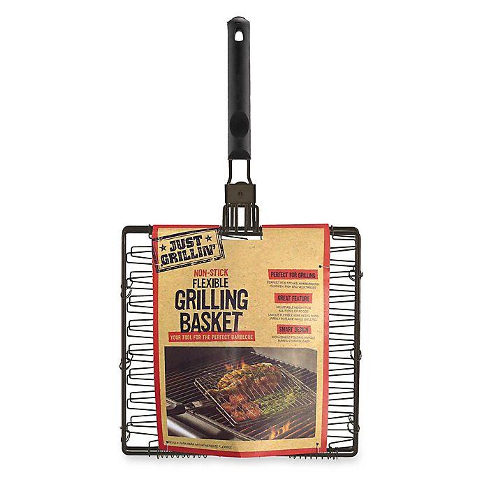 Alternate image 1 for Just Grillin' Nonstick Flexible/Expandable Grilling Basket
