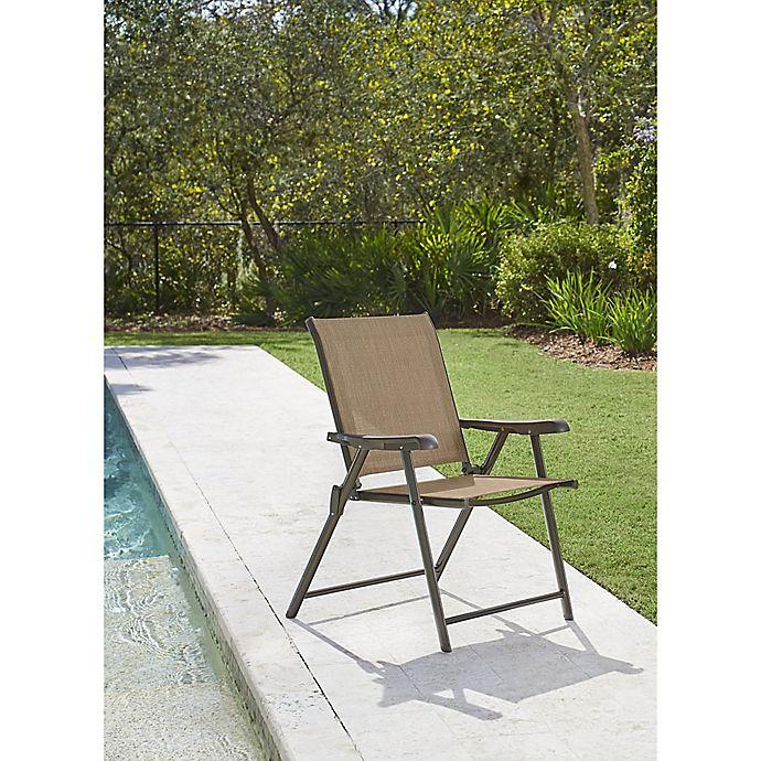 Alternate image 1 for Never Rust Outdoor Aluminum Folding Sling Chair