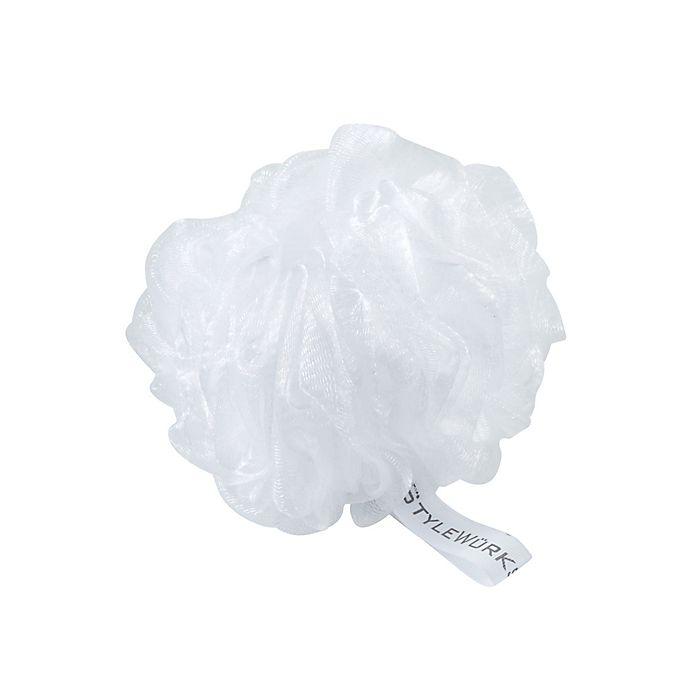 Alternate image 1 for StyleWurks™  Mesh Bath Sponge in White