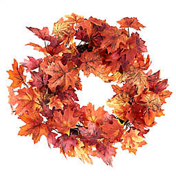 22-Inch Red Maple Leaf Harvest Wreath