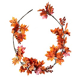 6-Foot Red Maple Leaf Garland