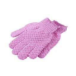 StyleWurks™ Exfoliating Gloves in Pink