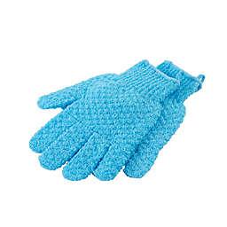 StyleWurks™ Exfoliating Gloves in Blue