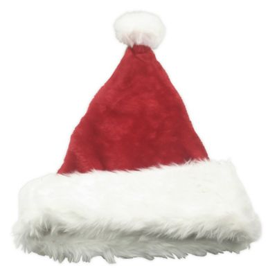 2 pack Plush Santa Hat Traditional Red and White for Christmas party