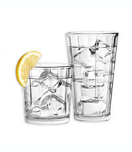Vasos de vidrio SALT™ Contour, Set de 16 piezas