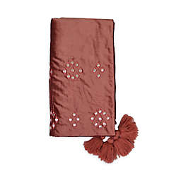 Global Caravan™ Mirror-Embroidered Bed Runner in Rust