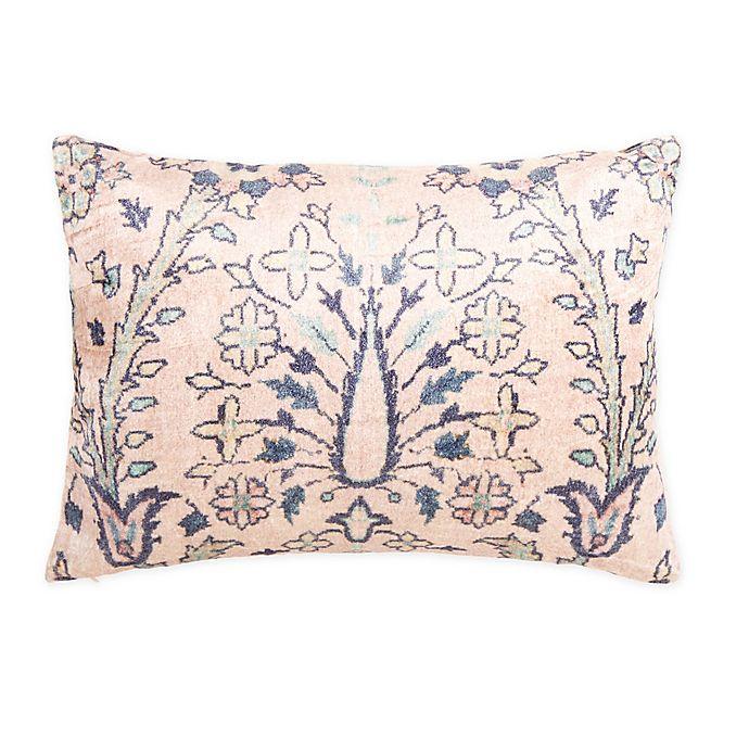 Alternate image 1 for Wamsutta® Vintage Alice Velvet Oblong Throw Pillow in Blush