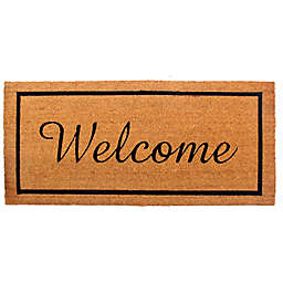 "Welcome Border 22"" x 47"" Coir Door Mat"