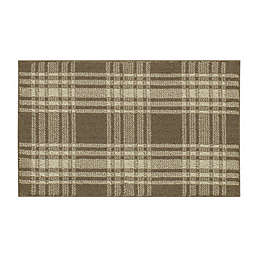 Bee & Willow™ Plaid 2'6 x 3'9 Accent Rug in Tan/Cream