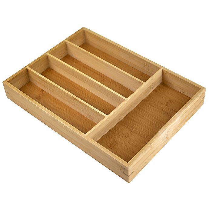 Alternate image 1 for Bamboo Cutlery Tray