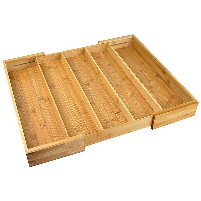 Alternate image 1 for Bamboo Expandable Utensil Organizer