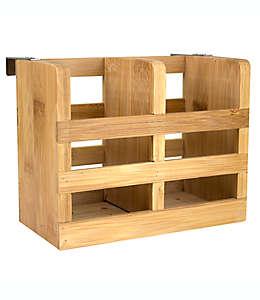 Organizador para utensilios de bambú