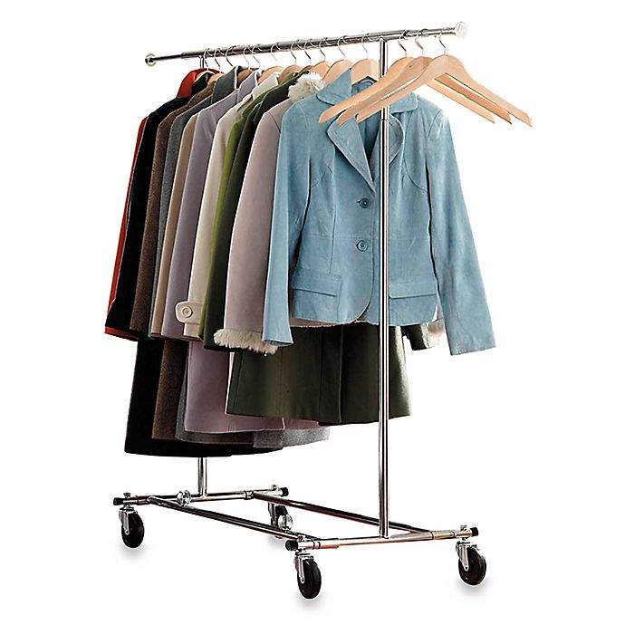 Alternate image 1 for Commercial Grade Portable & Folding Adjustable Garment Rack