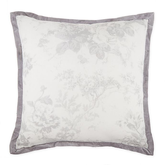 Alternate image 1 for Wamsutta® Vintage Mercia Square Throw Pillow in Light Grey