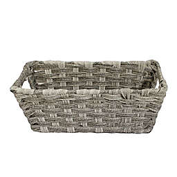 SALT™ Faux Rattan Small Shelf Basket in Grey