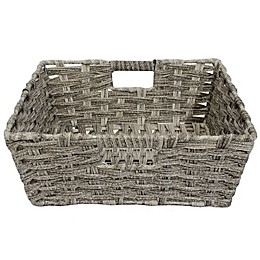 SALT™ Faux Rattan Shelf Basket in Grey