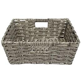 SALT™ Faux Rattan Shelf Basket in Grey