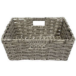 SALT™ Faux Rattan Medium Shelf Basket in Grey