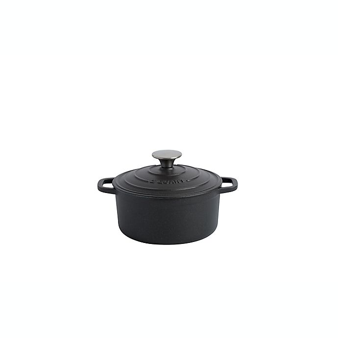 Alternate image 1 for Artisanal Kitchen Supply® 2 qt. Enameled Cast Iron Dutch Oven in Matte Graphite
