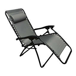 Folding Relaxer Chair in Grey