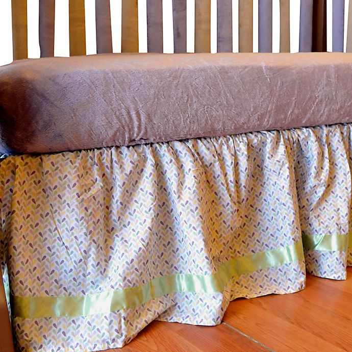 Alternate image 1 for Go Mama Go Designs® Love Petals Crib Skirt