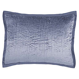 Wamsutta® Collection Velvet Standard Pillow Sham in Blue