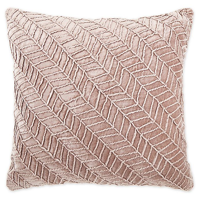 Alternate image 1 for O&O by Olivia & Oliver™ Soriano Herringbone Square Throw Pillow in Lilac
