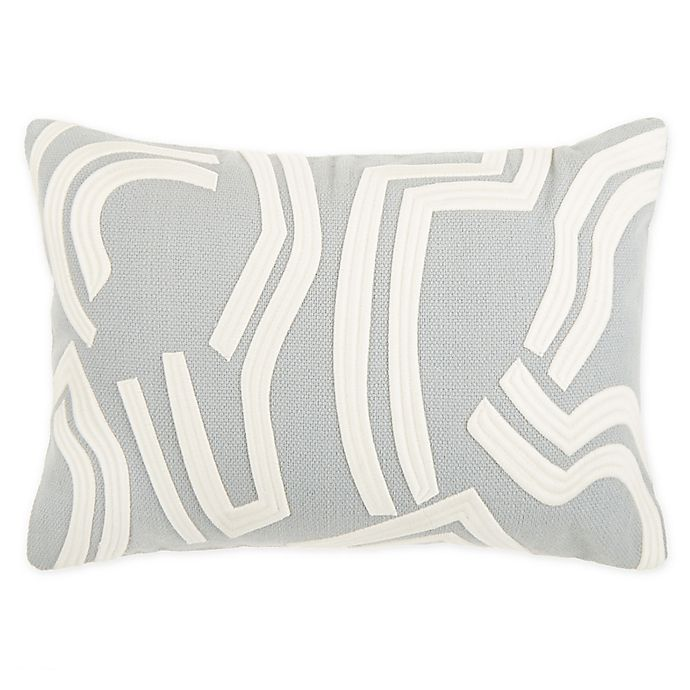 Alternate image 1 for O&O by Olivia & Oliver™ Verga Oblong Throw Pillow in Seaglass