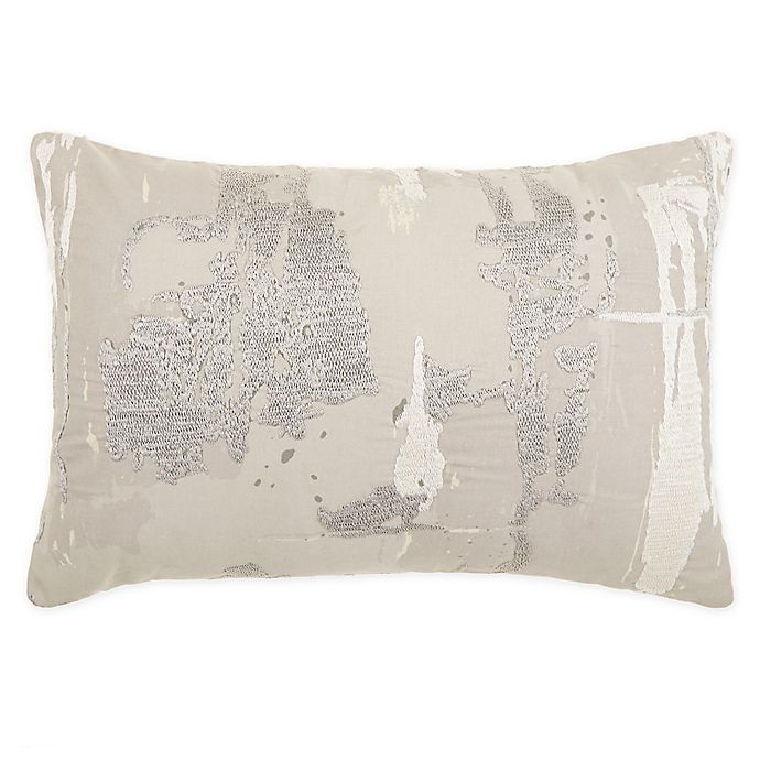 Alternate image 1 for O&O by Olivia & Oliver™ Villaggio Oblong Throw Pillow in Slate