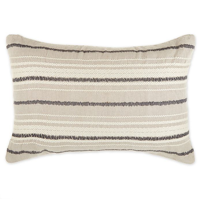 Alternate image 1 for O&O by Olivia & Oliver™ Varesina Striped Oblong Throw Pillow in Natural